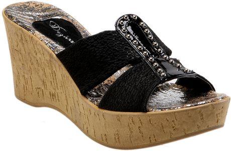 Dezario Nanor Wedge Sandal In Black Lyst