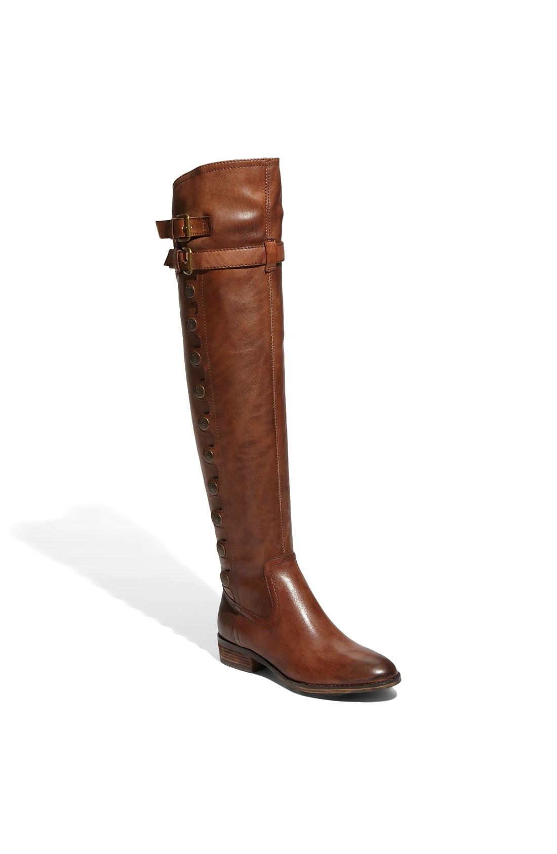 sam edelman the knee boot in brown whiskey