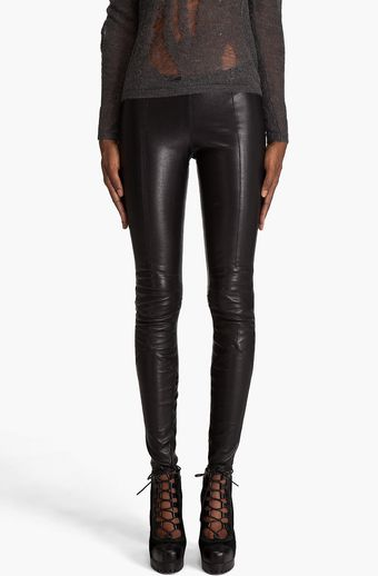 DSquared2 Leather Leggings - Lyst