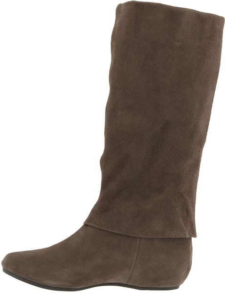 steve madden criskros boot in brown grey suede lyst