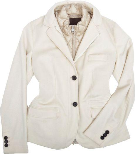 Allegri Water-proof Cashmere Jacket W/ Detachable Vest in Beige (cream)