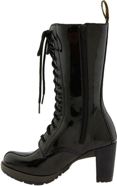 Dr martens diva dee boot in black lyst - Dr martens diva ...