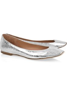 See By Chloé Crinkled-leather Scalloped Ballerina Flats - Lyst