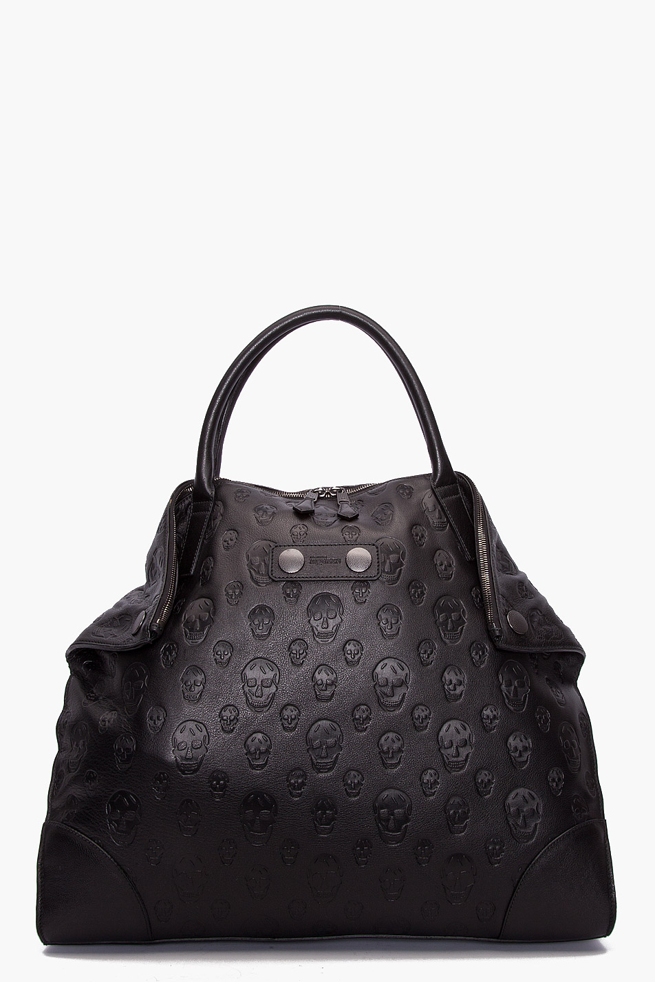 be2177f1a750 Lyst - Alexander McQueen Embossed Skull Tote in Black
