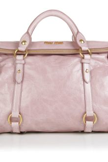 Miu Miu Bow Detail Leather Tote - Lyst