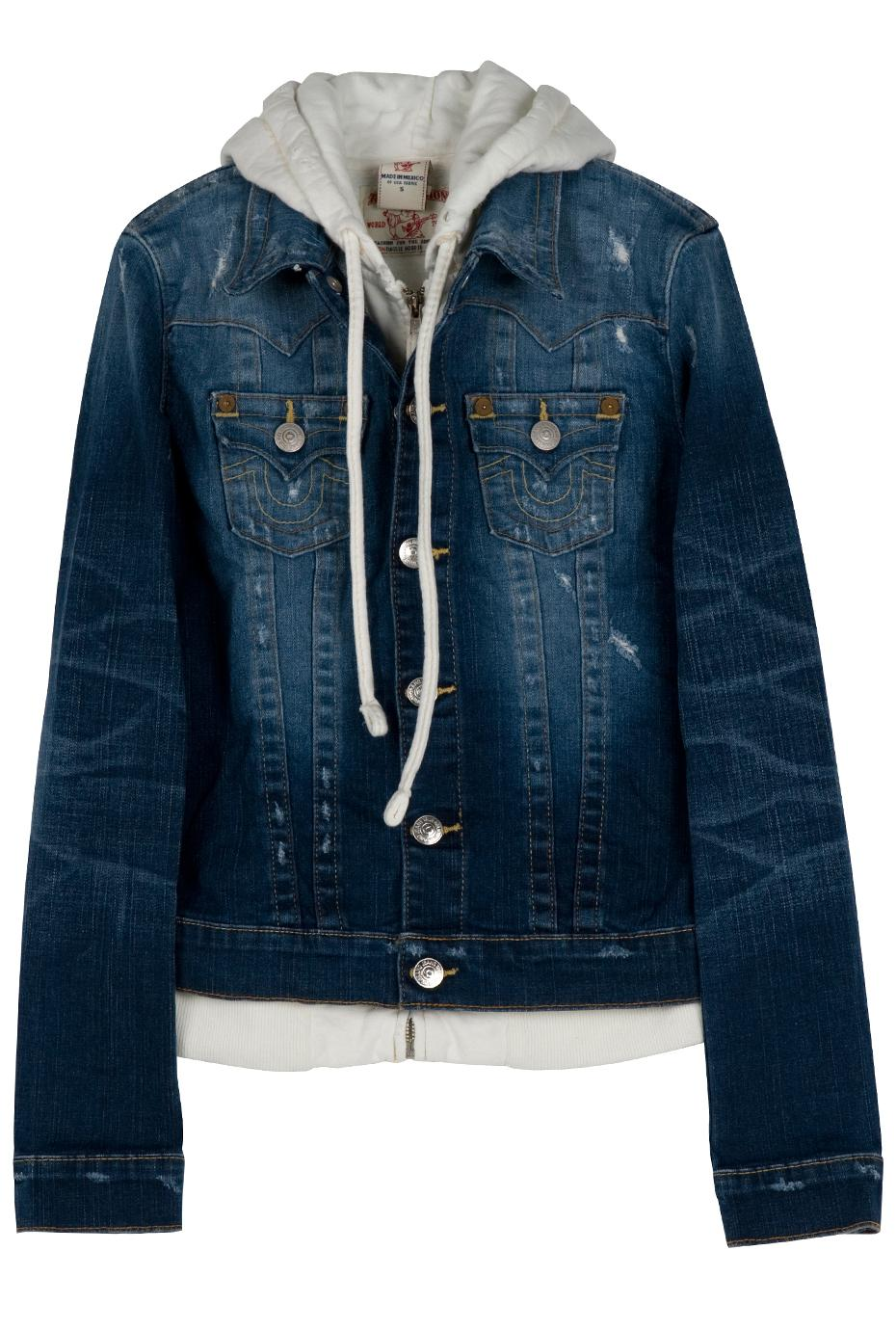 true religion jimmy hooded denim jacket in blue lyst. Black Bedroom Furniture Sets. Home Design Ideas