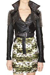 Burberry Prorsum Studded Leather Jacket - Lyst