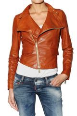 DSquared2 Biker Leather Jacket - Lyst