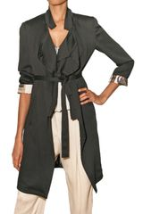 Etro Crinkled Viscose Trench Coat - Lyst