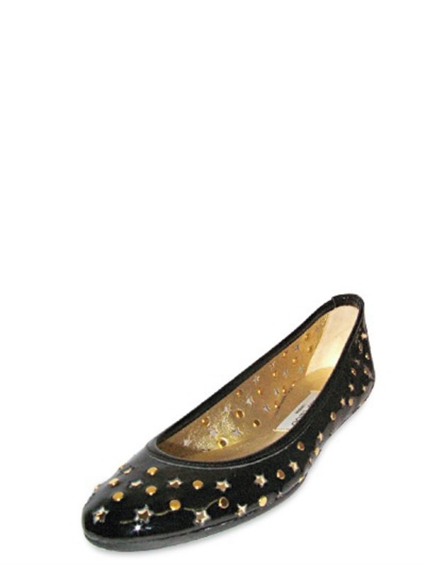 a7f6eae15535 ... canada lyst jimmy choo patent star and studded ballerina flats in black  d72ed a0cf0
