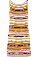 M Missoni Knitted Cotton-blend Shift Dress - Lyst