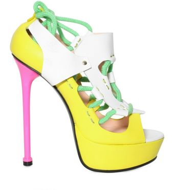Versace 140mm Rope and Leather Panel Sandals - Lyst