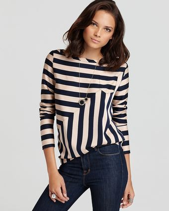 Diane Von Furstenberg Tiponi Silk Striped Top - Lyst