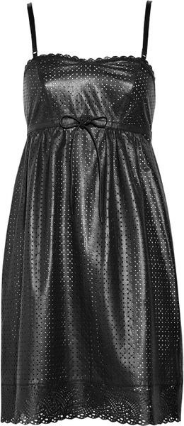 Marc By Marc Jacobs Lacey Perforated Leather Dress in Black - Lyst