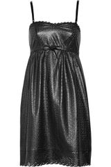 Marc By Marc Jacobs Lacey Perforated Leather Dress - Lyst