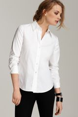 Theory Larissa Button Front Shirt - Lyst
