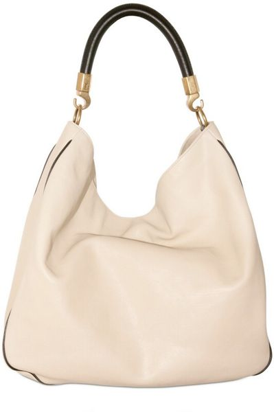 Yves Saint Laurent Roady Buffalo Bi Color Shoulder Bag in White (ivory) - Lyst