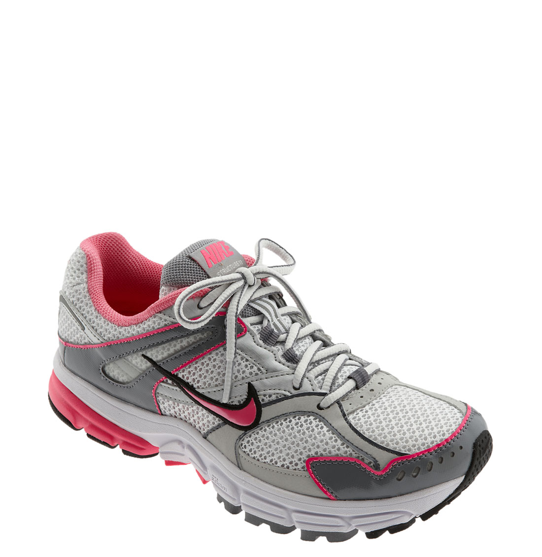 nike zoom structure triax 13 running shoe in pink