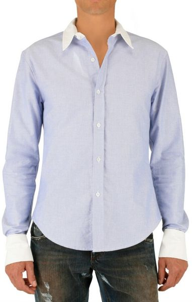 Band of outsiders contrasting collar and cuff oxford shirt for Mens dress shirts with contrasting collars and cuffs