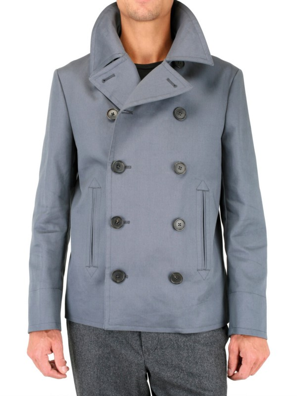 Black fleece by brooks brothers Authentic Pea Coat in Gray for Men ...