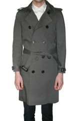 Burberry Prorsum Bonded Cotton Trench Coat - Lyst