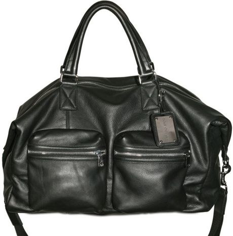 Dolce & Gabbana Textured Nappa Weekender Luggage in Black for Men - Lyst