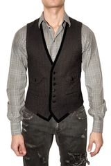 Dolce & Gabbana Silk and Herringbone Vest - Lyst
