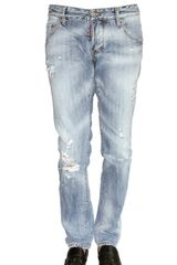 DSquared2 19cm Ripped Denim Slim Fit Jeans - Lyst