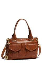 Fossil Modern Cargo Leather Satchel - Lyst