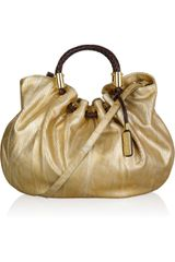 Michael Kors Skorpios Metallic Leather Tote - Lyst