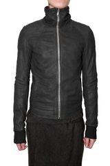 Rick Owens Intarsia Leather Jacket - Lyst