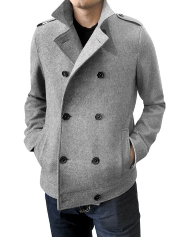 vast selection online store limited price Simon Spurr Wool Peacoat in Grey (Gray) for Men - Lyst