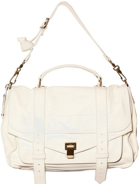 Proenza Schouler Ps1 Medium Lux Lamb Shoulder Bag in White - Lyst