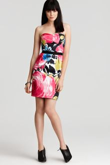 Trina Turk Bellevue Catalina Roses Strapless Dress - Lyst