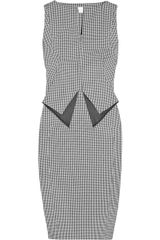 Antonio Berardi Houndstooth Stretch-cotton Dress - Lyst