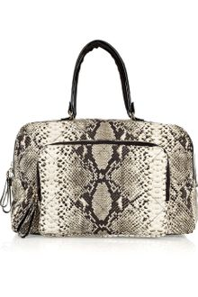 Lanvin Python-print Cotton-canvas Bowling Bag - Lyst