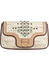 Marc Jacobs Jeannie Jewel-appliqué Large Tweed Clutch - Lyst