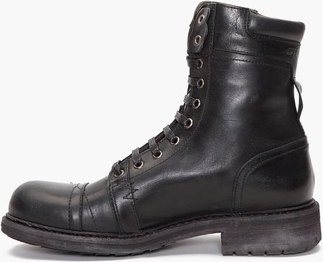 diesel cassidy boots in black for lyst