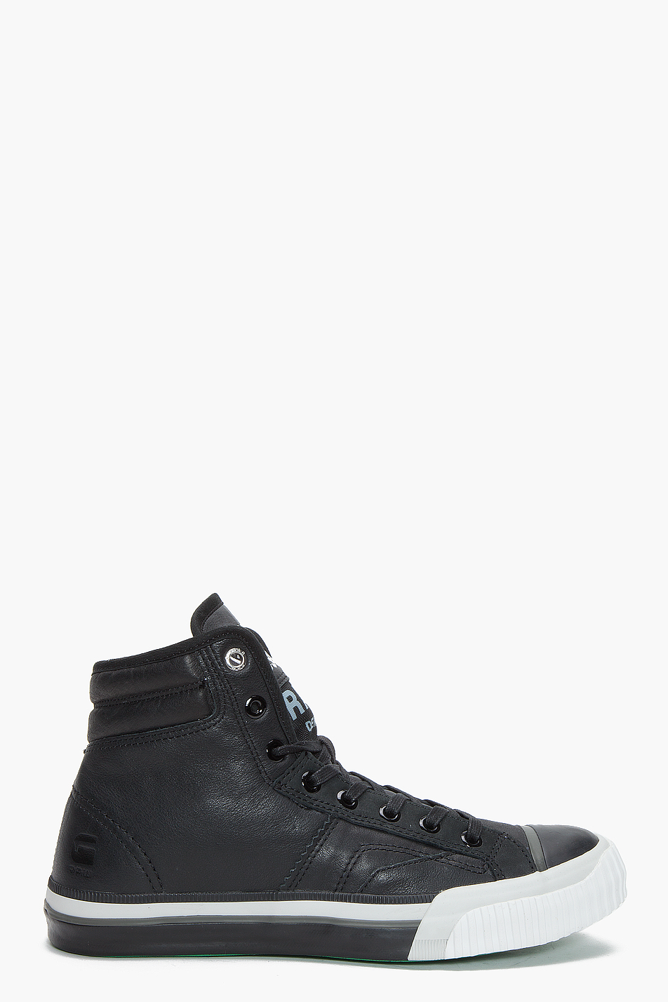 g star raw campus term scott ii hi leather sneakers in black for men lyst. Black Bedroom Furniture Sets. Home Design Ideas