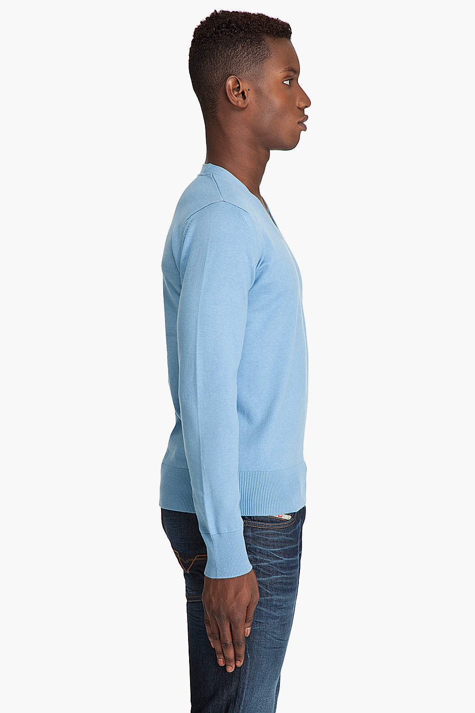 g star raw c line v sweater in blue for men lyst. Black Bedroom Furniture Sets. Home Design Ideas
