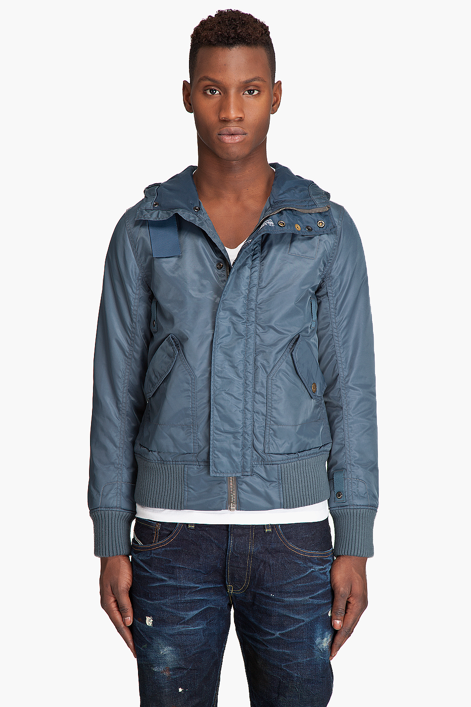 lyst g star raw mfd bomber jacket in blue for men. Black Bedroom Furniture Sets. Home Design Ideas