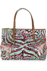 Jimmy Choo Scarlet Large Printed Shopper - Lyst