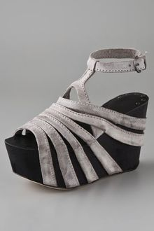 Joe's Jeans Briggs Suede Wedge Sandals - Lyst