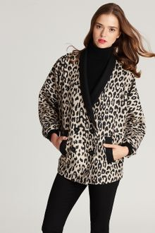 Loeffler Randall Leopard-print Double-breasted Coat - Lyst