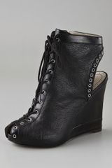 Marc By Marc Jacobs Lace Up Wedge Booties - Lyst