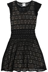 RED Valentino Knitted Lace Mini Dress
