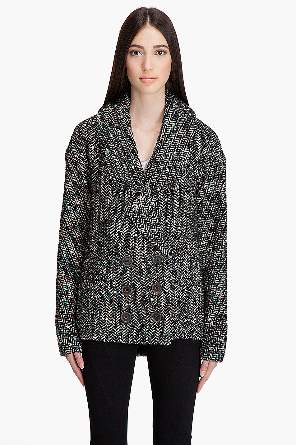 Smythe Cocoon Jacket In Black Lyst