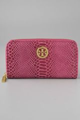 Tory Burch Zip Continental Wallet - Lyst