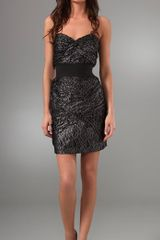 Foley + Corinna Metallic Lace Strapless Dress - Lyst