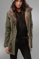 Torn By Ronny Kobo Laura Parka Jacket with Fur - Lyst